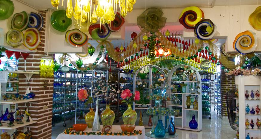 Cabo glass factory produces functional art