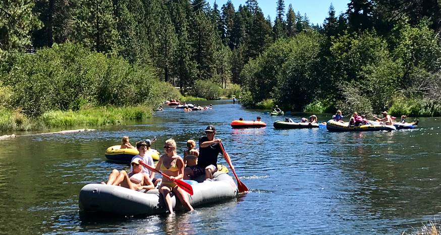 Relaxing Truckee River float a scenic wonder