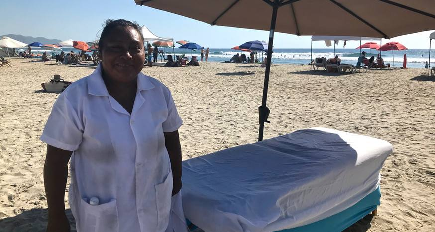 Baja beach massage a blissful experience