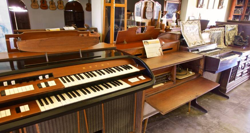 Vintage piano collection in Baja Sur a relic from 1800s