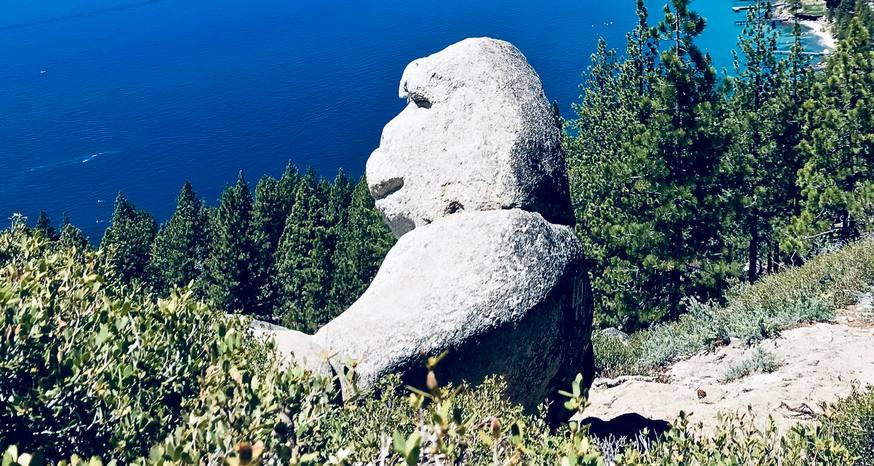 Monkey Rock provides stunning views of Lake Tahoe