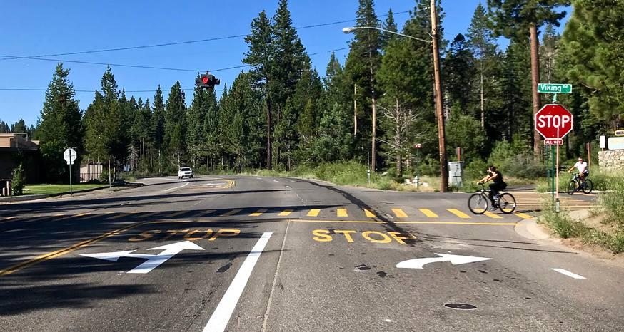 Prep for South Lake Tahoe bike path alters driving lanes