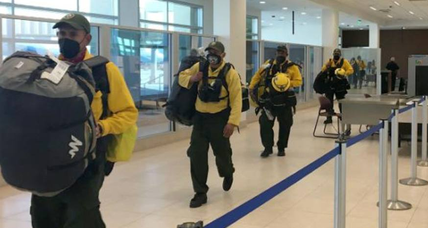 Mexican crews in Calif. for first time to fight fires