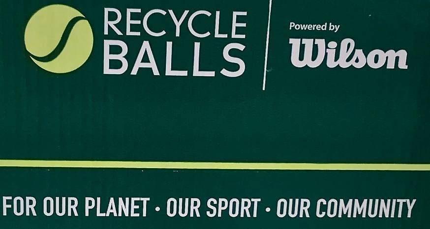 Tennis balls being repurposed through recycling program