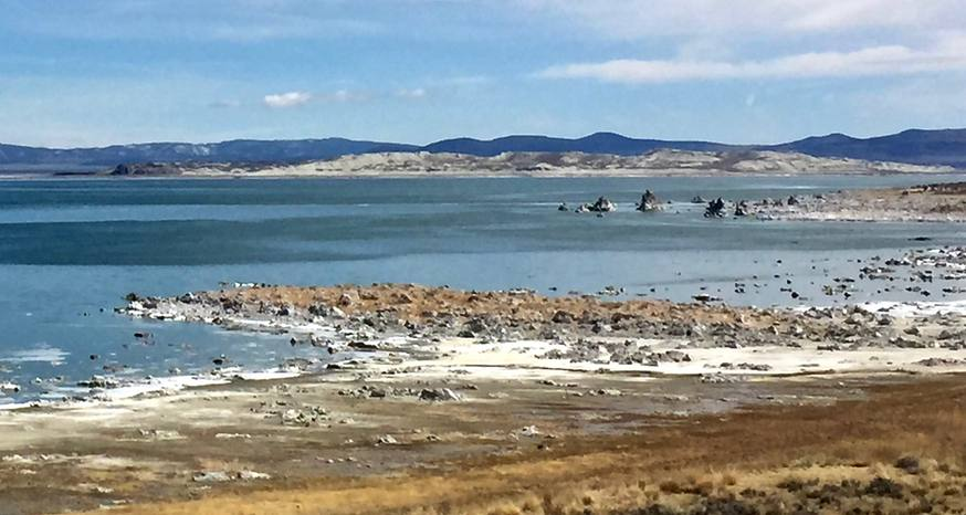 Beauty of Mono Lake spills forth from its edges