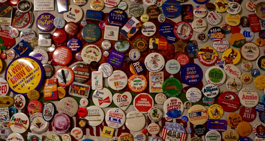 Array of buttons represent decades of memories